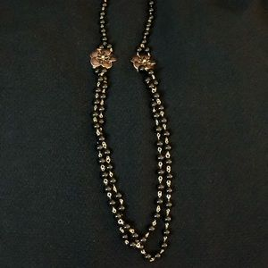 NWT Talbots Beaded Necklace w/Flower Accents